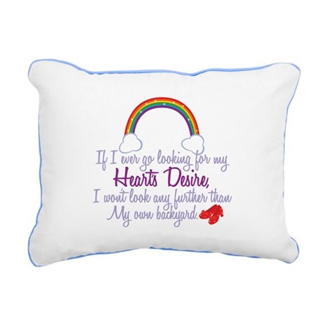 Heart's Desire Quote Rectangular Canvas Pillow