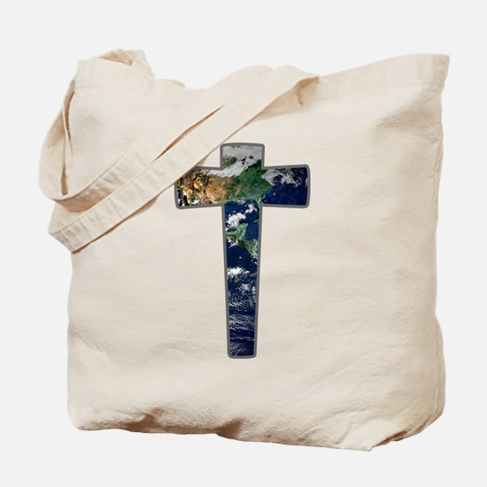 Cross - Earth Tote Bag