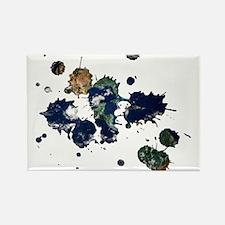 Earth Splatter Rectangle Magnet