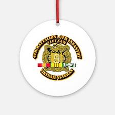 Army - 4th Battalion, 9th Infantry w SVC Ribbons O