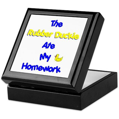 Homework Excuse Keepsake Box