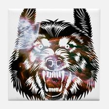 Cosmic Wolf Tile Coaster
