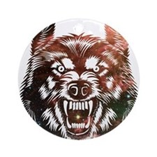 Cosmic Wolf Ornament (Round)