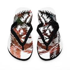 Cosmic Wolf Flip Flops