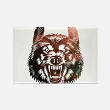 Cosmic Wolf Rectangle Magnet
