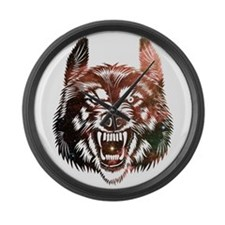 Cosmic Wolf Large Wall Clock