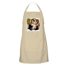 Madonna of the Lilies BBQ Apron