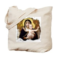 Madonna of the Lilies Tote Bag