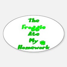 Homework Excuse Oval Decal
