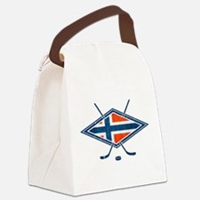 Norsk Ishockey Flag Canvas Lunch Bag