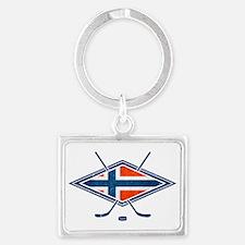 Norsk Ishockey Flag Keychains