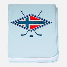 Norsk Ishockey Flag baby blanket