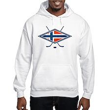 Norsk Ishockey Flag Hoodie