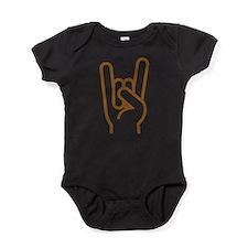 Metal Horns Baby Bodysuit