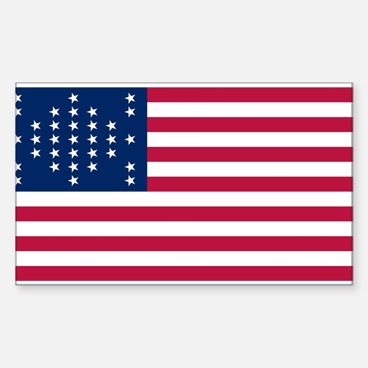 US - 33 Stars Fort Sumter Flag Decal