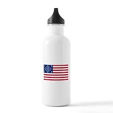 US - 33 Stars Fort Sumter Flag Water Bottle