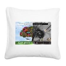 God Given Monsanto Driven Square Canvas Pillow
