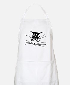 Black Cat Face BBQ Apron