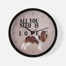 Cavalier Spaniel Wall Clock