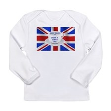 Keep Calm and Drink a Cuppa Tea Long Sleeve Infant