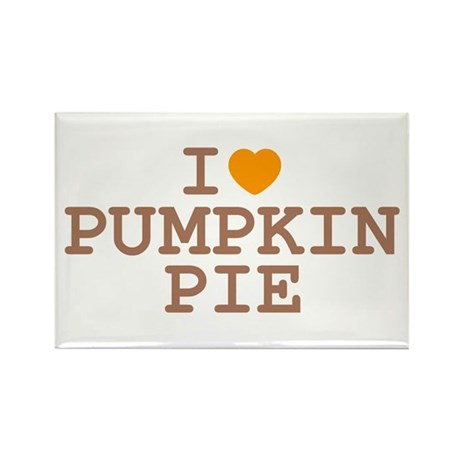I Heart Pumpkin Pie Rectangle Magnet (10 pack)