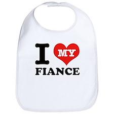 I Love My Fiance Bib