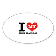 I Love My Great Grand Dad Decal
