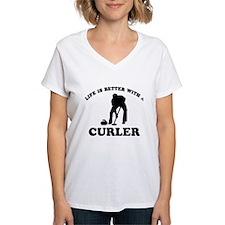 Curler vector designs Shirt