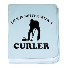 Curler vector designs baby blanket