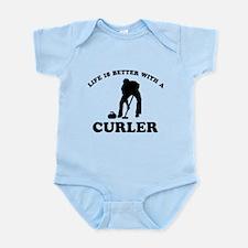 Curler vector designs Infant Bodysuit