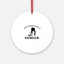 Curler vector designs Ornament (Round)