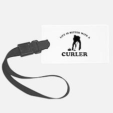 Curler vector designs Luggage Tag