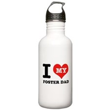 I Love My Foster Dad Water Bottle