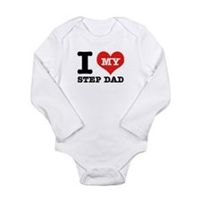 I Love My Step Dad Long Sleeve Infant Bodysuit