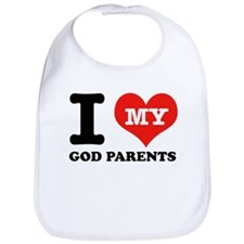 I Love My God Parents Bib