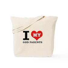 I Love My God Parents Tote Bag