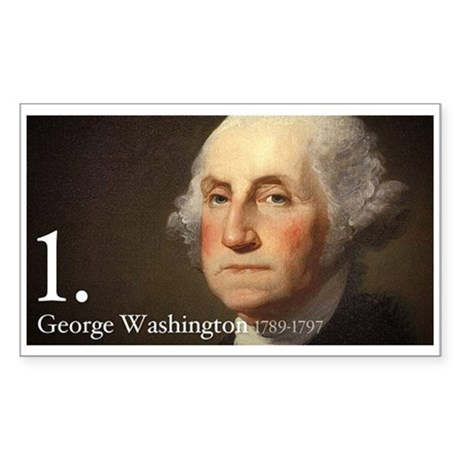 George Washington Sticker (Rectangle)