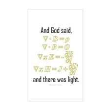 """""""Let There Be Light"""" Rectangle Decal"""