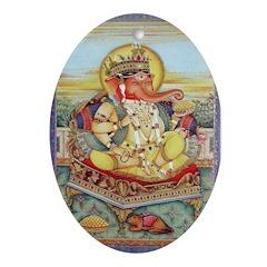 Ganesh Oval Ornament