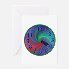 Abstract spiral 4:20 clock, gifts Greeting Card