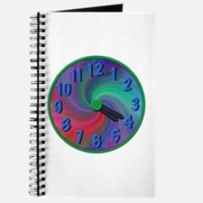 Abstract spiral 4:20 clock, gifts Journal