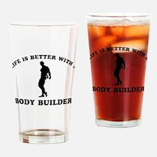 Body Builder vector designs Drinking Glass