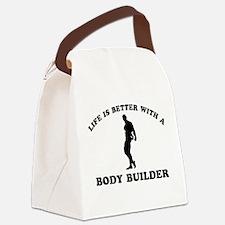 Body Builder vector designs Canvas Lunch Bag