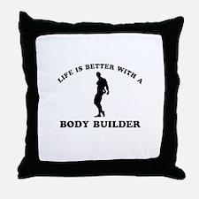 Body Builder vector designs Throw Pillow