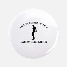 """Body Builder vector designs 3.5"""" Button"""