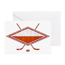 Polski Hokej Na Lodzie Flag Greeting Card