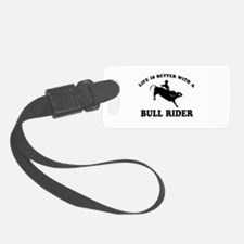 Bull Rider vector designs Luggage Tag