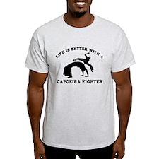Capoeira Fighter vector designs T-Shirt