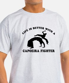 Capoeira Fighter vector designs T-Shirt
