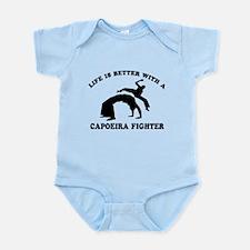 Capoeira Fighter vector designs Infant Bodysuit